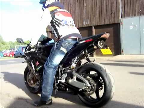 CBR600RR A16 Carbon Moto GP Exhaust at the BMF 2011.wmv - YouTube