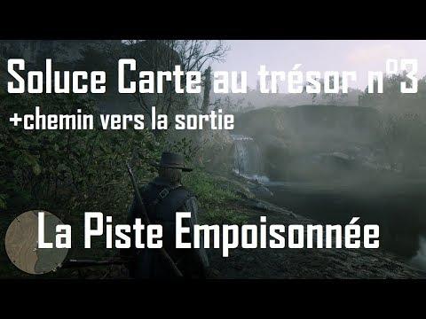 carte de la piste empoisonnée Red Dead Redemption 2   Carte n°3 de la Piste empoisonnée + Chemin