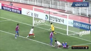 2014 K리그 챌린지 36라운드 강원FC VS 수원FC 하이라이트