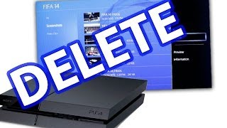 How To Delete Video and Screenshots On The PS4 - PlayStation 4 Tips & Tricks
