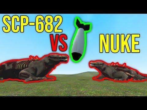 SCP-682 VS NUKE! (gmod scp)