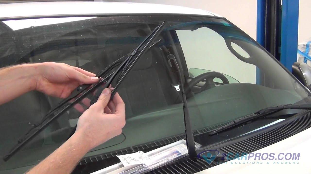 Remove Windshield Wiper >> Windshield Wiper Blades Replacement Toyota Tundra 2000-2006 - YouTube