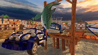 Beach buggy racing game ! race in shark village ! child racing games ! race 2