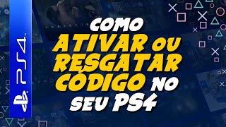 PLAYSTATION 4 - Como INSERIR e ATIVAR um CÓDIGO no PS4 (PSN CARD, PLUS, JOGOS...)
