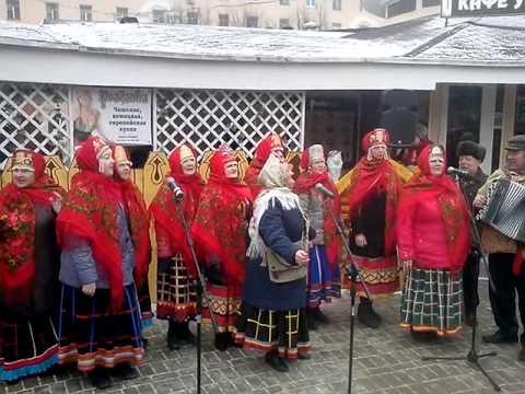 Веселые песни на Масленице в Калуге