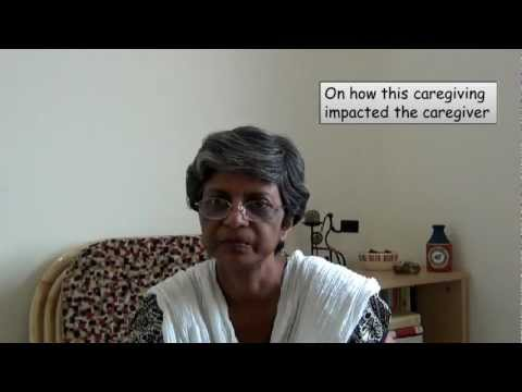 Late stage dementia home care:  a caregiver from India shares her experiences