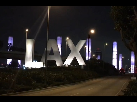 Walking through Los Angeles International / LAX airport terminals