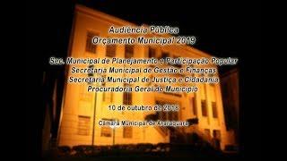 Audiência Pública - Orçamento Municipal 2019 - 10/10/2018
