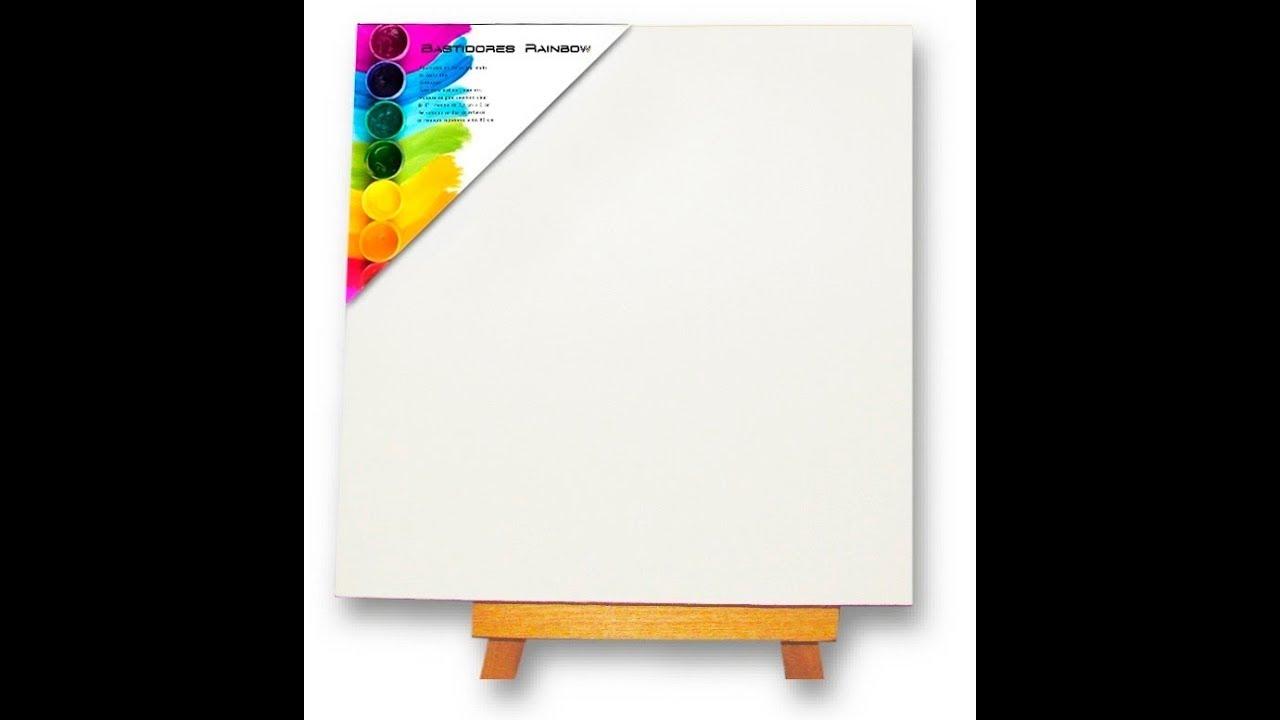 Como hacer un bastidor para pintar - YouTube