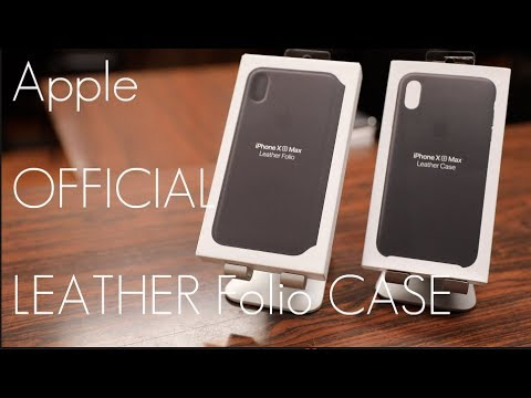 buy popular 95cc3 94bc2 Apple's  OFFICIAL Leather / Folio overpriced..Case - iPhone XS / MAX -  In-depth Review / Comparison