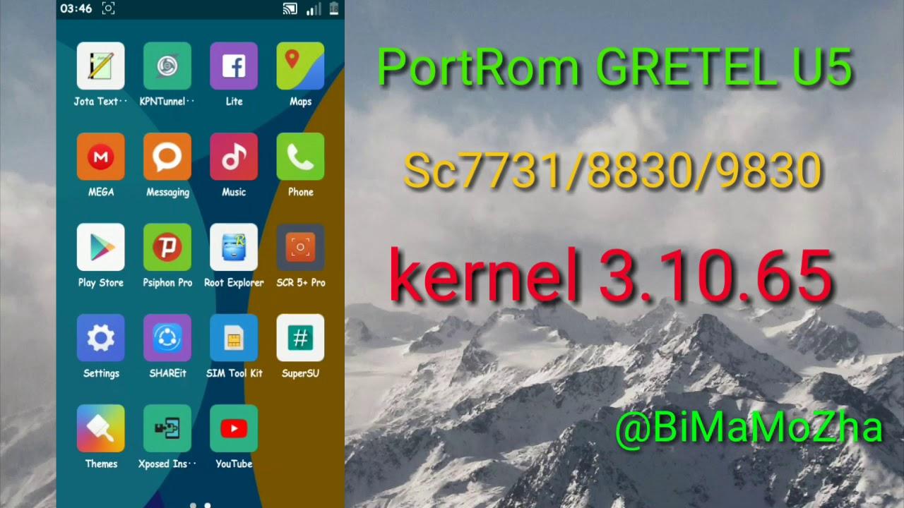 CUSTOM ROM ADVAN i5C SC9830, SC8830, SC77331 LOLLIPOP KERNEL - YouTube