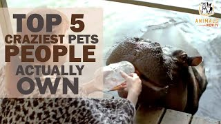 TOP 5 Of The Craziest Pets People Really Own!