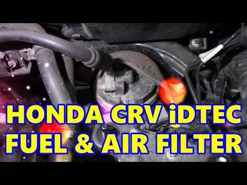Honda CRV iDTEC Fuel & Air Filters - YouTubeYouTube