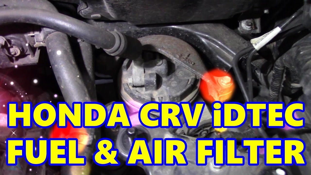 honda crv fuel filter change