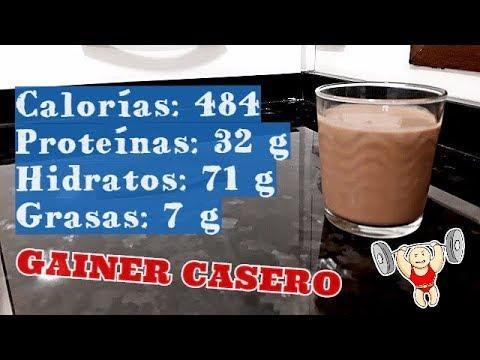 BATIDO PARA GANAR MASA MUSCULAR | MASS GAINER CASERO