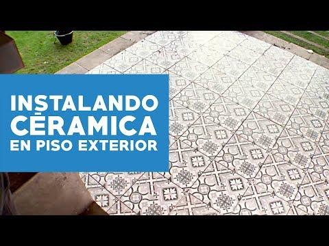 Cmo instalar cermicas en suelo exterior  YouTube