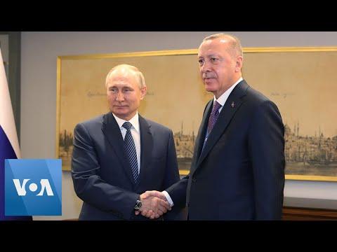 Turkey's Erdogan Welcomes Russia's Putin to Istanbul