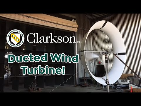 Ducted Wind Turbine Doubles Performance at Clarkson University
