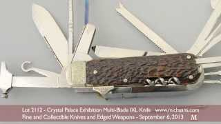 Crystal Palace Exhibition Multi-Blade IXL Folding Knife by George Wostenholm, Sheffield
