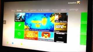 Watching Movies on new XBOX 360 with USB Flash Stick Music