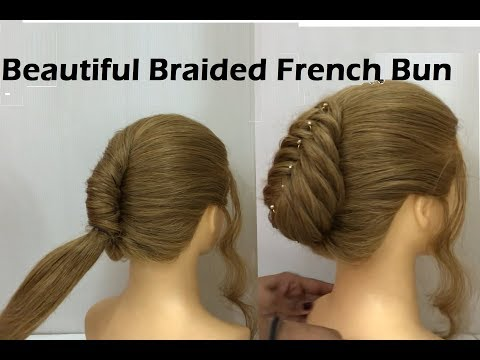 very-easy-french-roll-hairstyle-for-thin-hair- -french-bun-hairstyles-2019