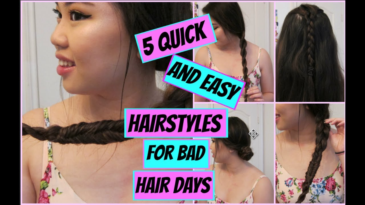 bad hair day styles 5 and easy heatless hairstyles for bad hair days 4098