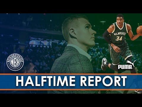 LIVE Halftime Report New York Knicks vs Milwaukee Bucks