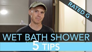Top 5 Tips for Showering in Your R-Pod RV Wet Bath