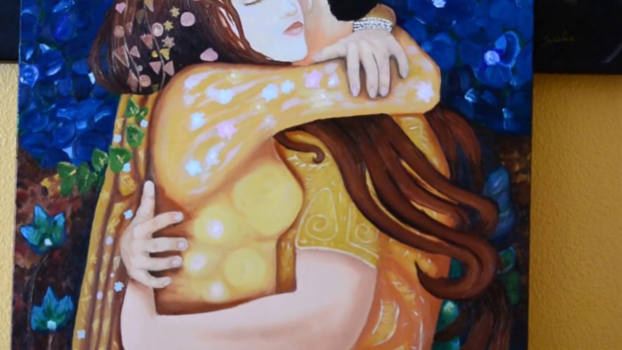 Venta cuadros pintora sicilia abrazo de pareja - Cuadros de parejas ...