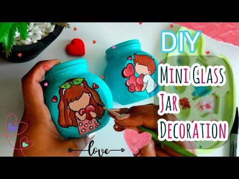 Bottle Painting Ideas Cute Couple Painting On Jar Bottle Art Diy Bottle Decoration Craft Youtube