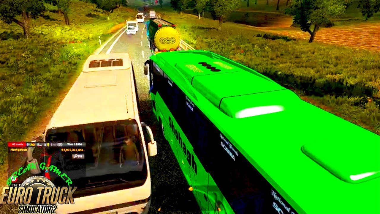 Bus Mod ETS 2 1 30 Scania Touring Bus with 2200HP Engine || Heavy Traffic