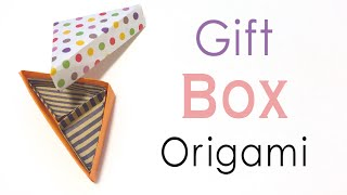 Origami Paper Triangular Gift Box Instruction ❤️ - Origami Kawaii〔#145〕