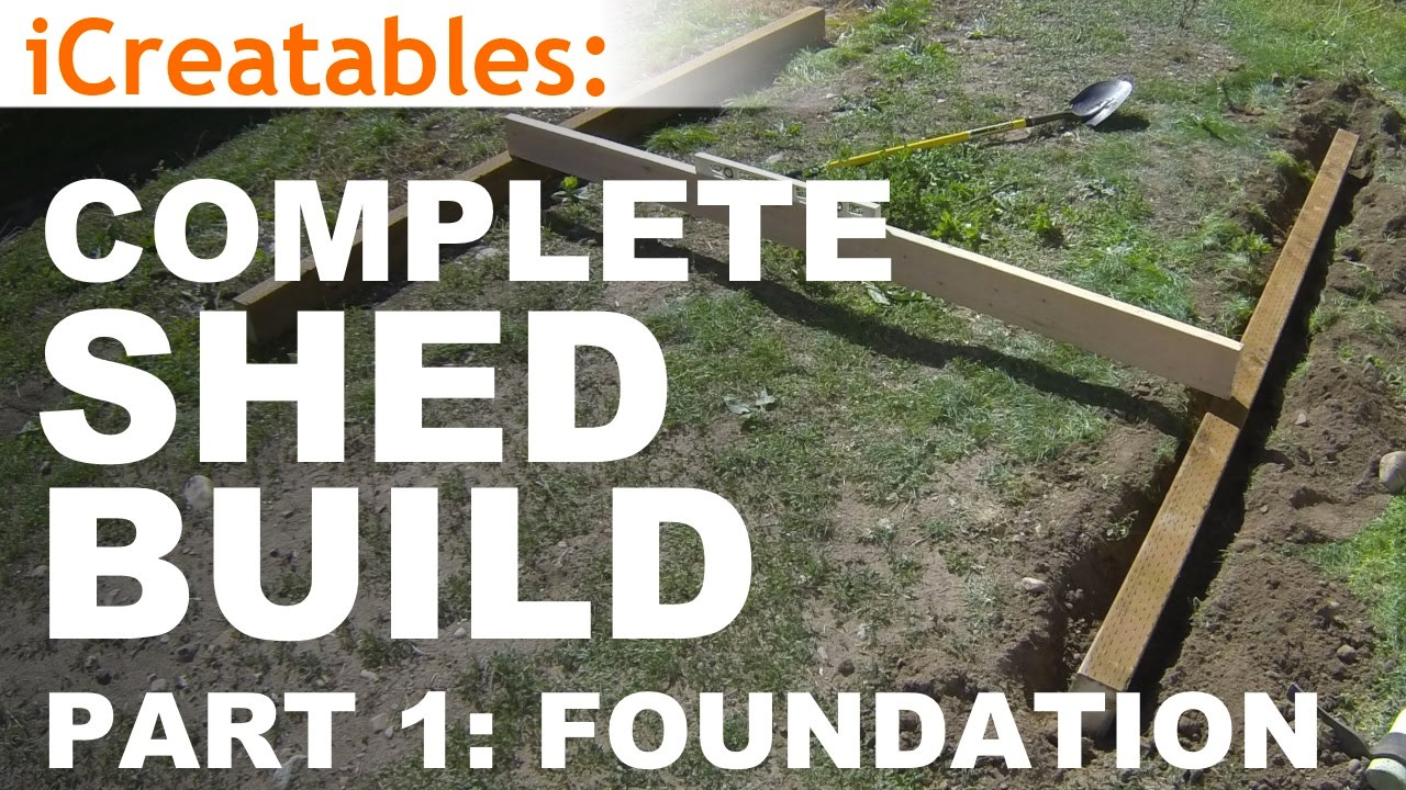 How to Build A Shed - Part 1 - The Shed Foundation - YouTube