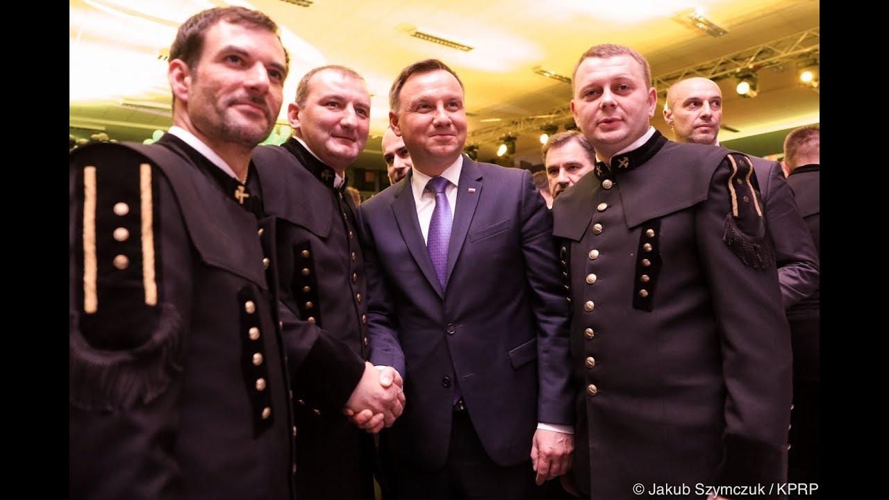 """Prezydent na spotkaniu Gwarków JSW KWK """"Pniówek"""""""