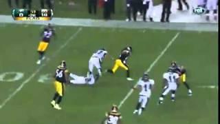 Mike Vick Flips Polamalu (Eagles vs. Steelers Preseason 2011)