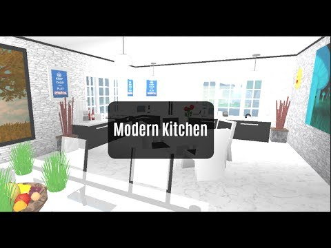 Roblox bloxburg room designs modern kitchen ep 3 for Kitchen designs bloxburg