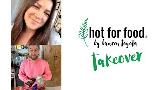 Lance Bass blends soup into pasta sauce | Ep #6 #hotforfoodtakeover LIVE