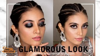 Glamour Makeup and Hair look ( Smokey eyes and Hair braid)