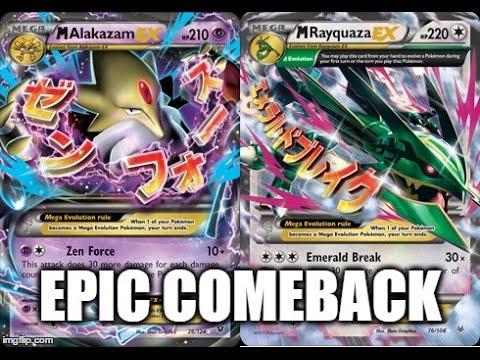 Pokémon Tcg Epic Comeback Mega Alakazam Vs Mega Rayquaza Bad Decks
