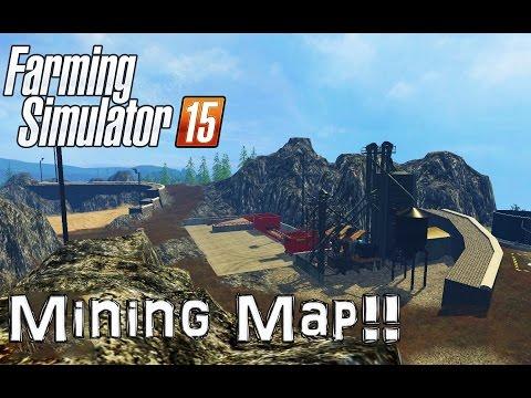 Farming Simulator 15 | MASSIVE MAP MOD | Bjornholm Mining And Construction