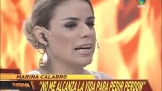 Marina calabró lloró tras las críticas de su hermana Iliana