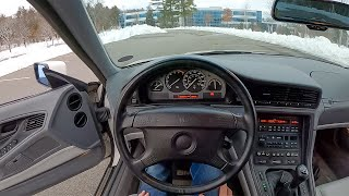 1992 BMW 850i - POV Test Drive by Tedward (Binaural Audio)