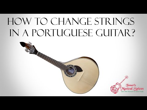 How to change strings in a Portuguese guitar?