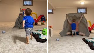 Kid gets completely eaten by the 'bedsheet monster'