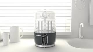 Video: Babymoov Turbo Pure lutipudelite sterilisaator/kuivati