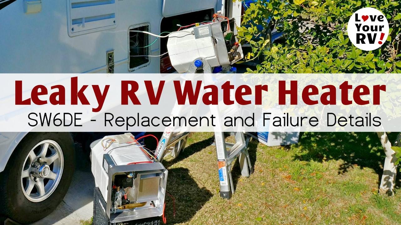 Replacing My Leaking Suburban SW6DE RV Water Heater - YouTube on