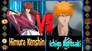 Himura Kenshin Ex (Rurouni Kenshin) vs Ichigo Kurosaki (Bleach) - Ultimate Mugen Fight 2017
