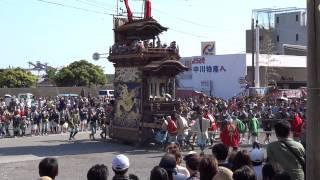 潮干祭2015 2 MAH02023石橋組「青龍車」神前神社前曳き廻し3