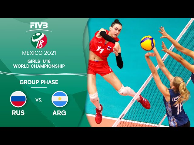 RUS vs. ARG - Group Phase | Girls U18 Volleyball World Champs 2021