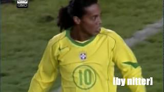 Ronaldinho vs Argentina 2004-2005 [by nitter]